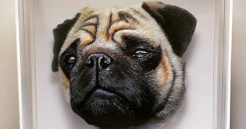 Cet artiste superpose des couches de verre pour réaliser des peintures d'animaux