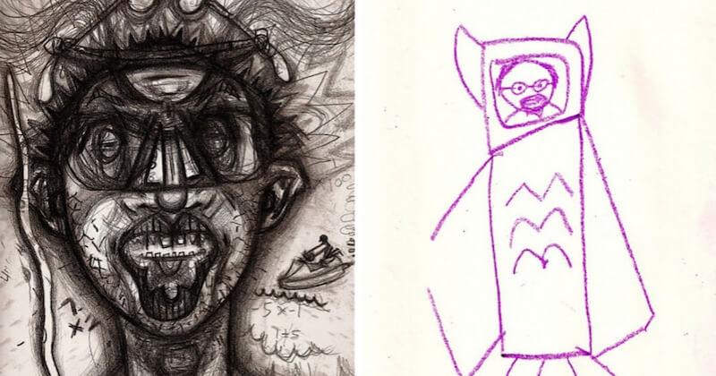 Un autoportrait par jour sous une drogue différente, l'oeuvre stupéfiante d'un illustrateur