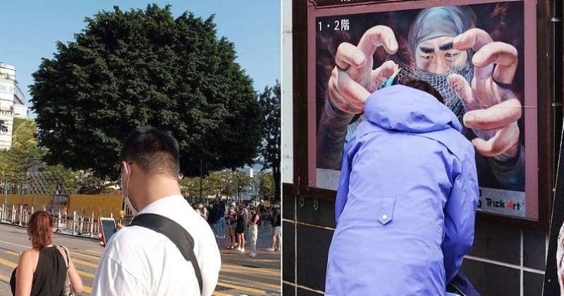 Il arpente les rues de Hong Kong et réalise des photos dans un timing absolument parfait