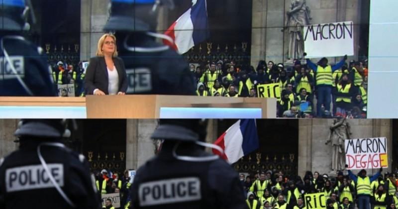 France 3 sous le feu des critiques après la modification d'une pancarte anti-Macron