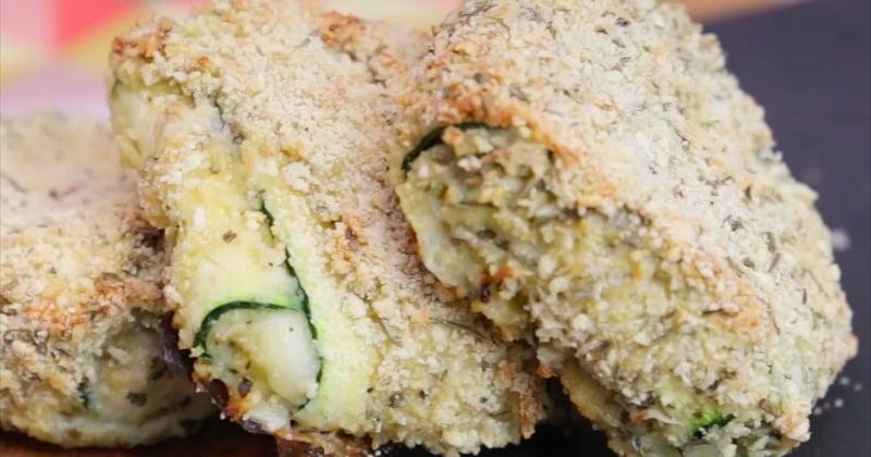 courgettes panées à la mozzarella