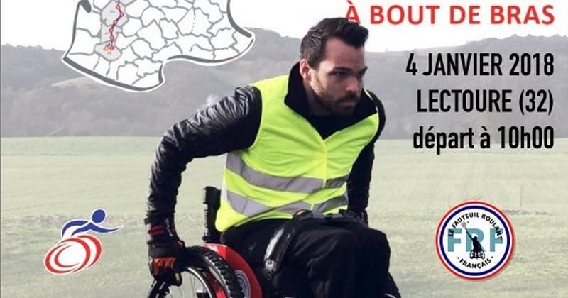 Ce jeune entrepreneur s'apprête à parcourir 710 kilomètres... en fauteuil roulant pour récolter 500000euros pour sauver son entreprise