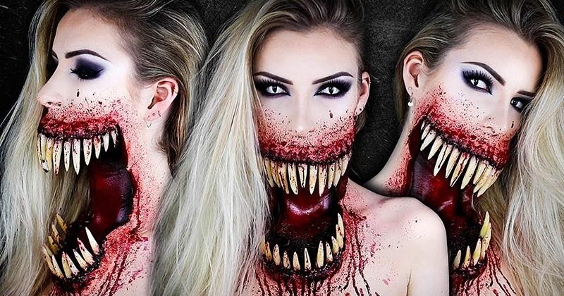 Cette maquilleuse professionnelle va vous subjuguer pour Halloween !