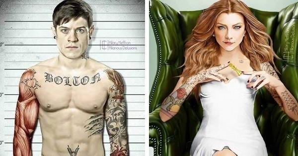 À quoi ressembleraient les personnages de « Game of Thrones » s'ils avaient des tatouages ?