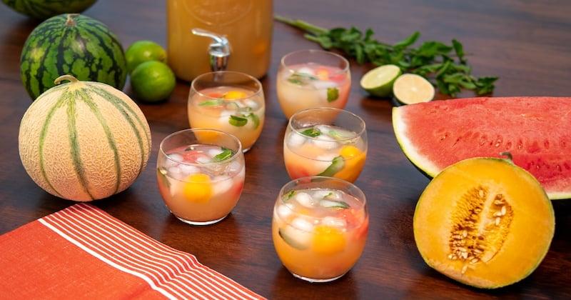 punch melon et pastèque
