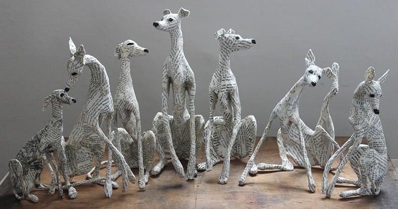 Génial: Cette artiste réalise d'étonnantes sculptures à base... de papier journal recyclé !