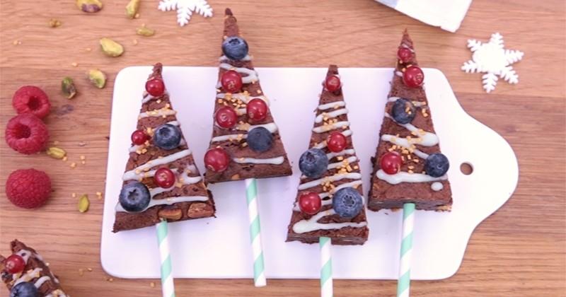 À l'approche des fêtes, préparez d'adorables sapins brownies !