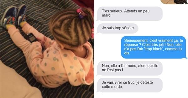 Elle juge la fille de ce papa « trop blanche pour porter ce genre de tresses », il publie ses messages racistes sur Facebook