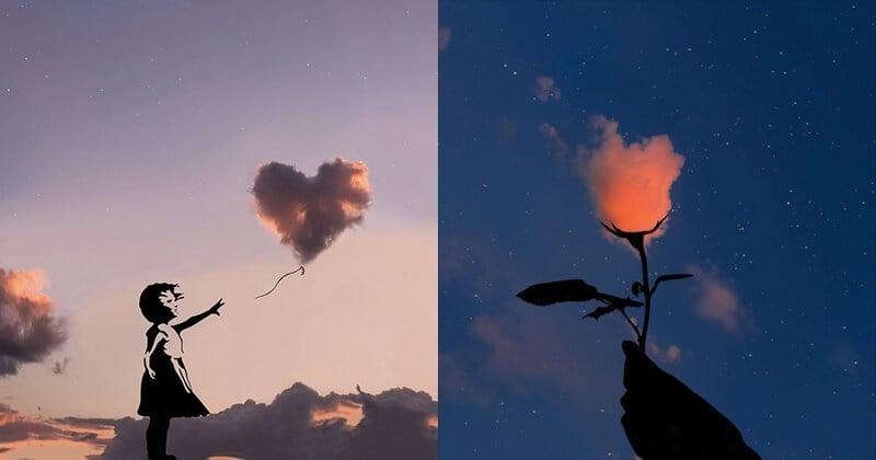 Cet artiste transforme les nuages en de magnifiques silhouettes