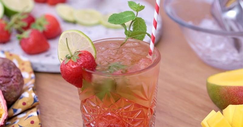 Pour vous rafraîchir, pensez à notre rooibos à la fraise et à la menthe!