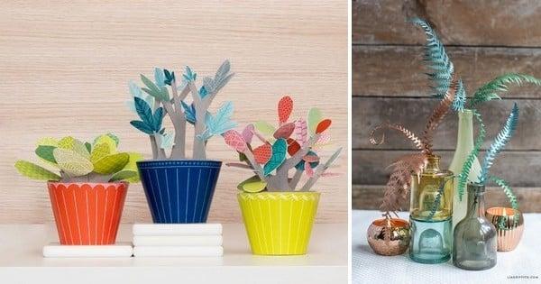 diy r alisez des plantes en papier aux feuillages ternellement verts que vous n 39 arroserez. Black Bedroom Furniture Sets. Home Design Ideas