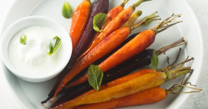 Poêlée de carottes multicolores