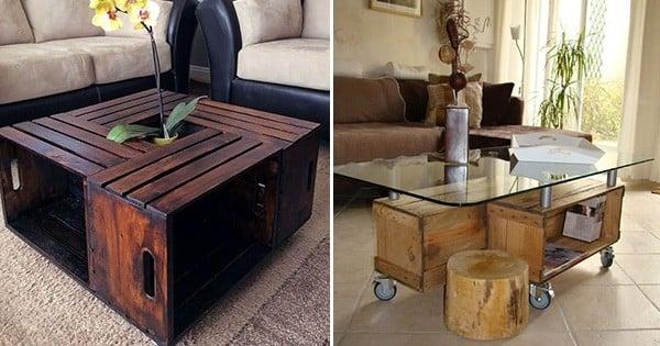 35 idées de recyclage des cageots en bois : ils trouveront une place