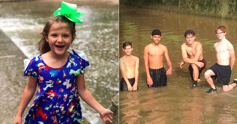 Une fillette sauvée in extremis de la noyade par quatre ados courageux