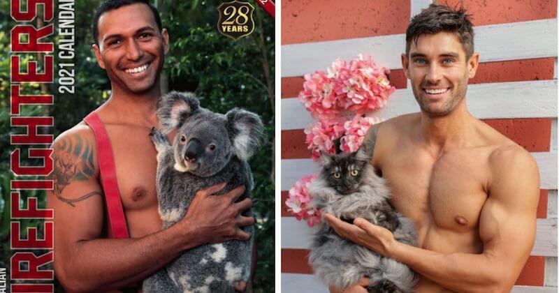 Pour leur calendrier 2021, les pompiers australiens posent de nouveau avec des animaux pour la bonne cause