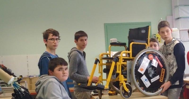Pour aider leur camarade handicapé, des élèves de troisièmes créent un fauteuil roulant connecté