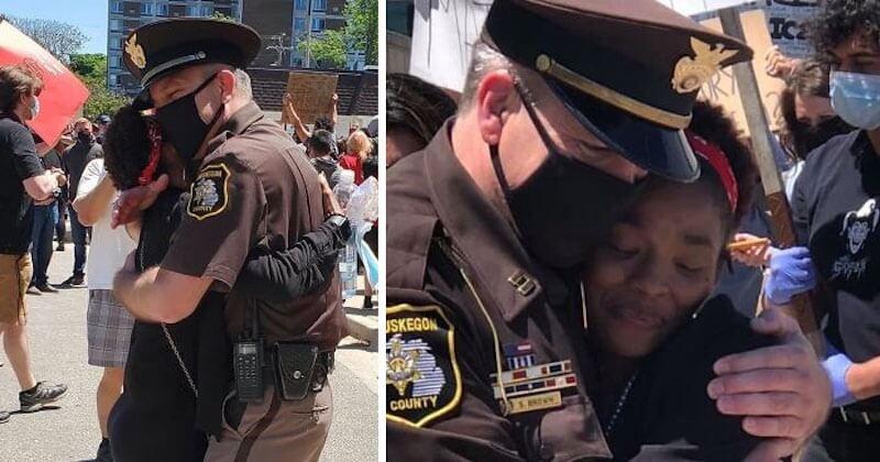 19 photos qui montrent une image bien plus positive et bienveillante des manifestations aux États-Unis