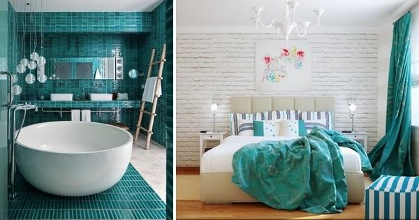 laissez vous tenter par la couleur turquoise la teinte de la rentr e voici 20 utilisations. Black Bedroom Furniture Sets. Home Design Ideas