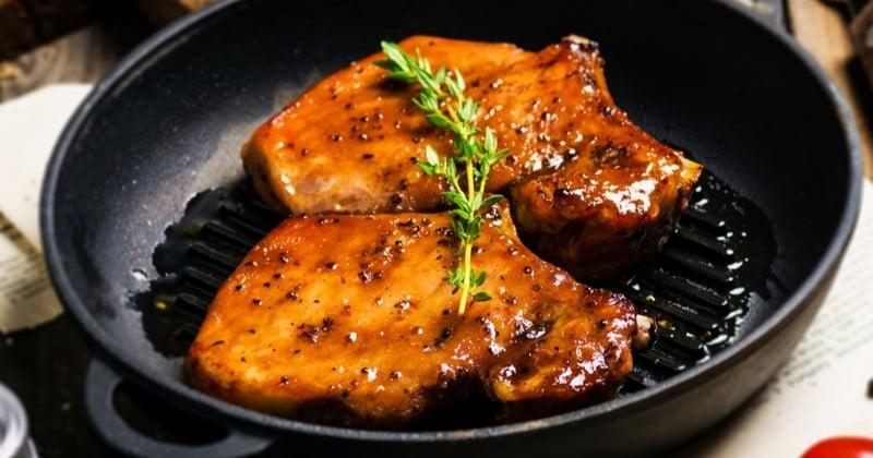 Côtelettes de porc au miel et aux épices