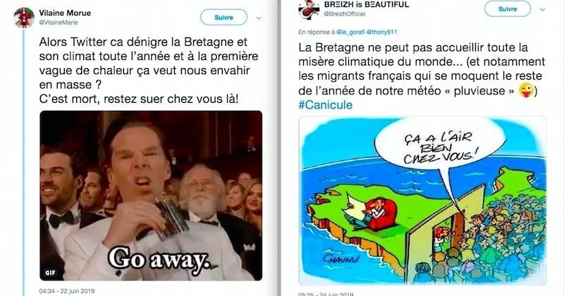 La Bretagne épargnée par la canicule, Twitter s'en donne à coeur joie
