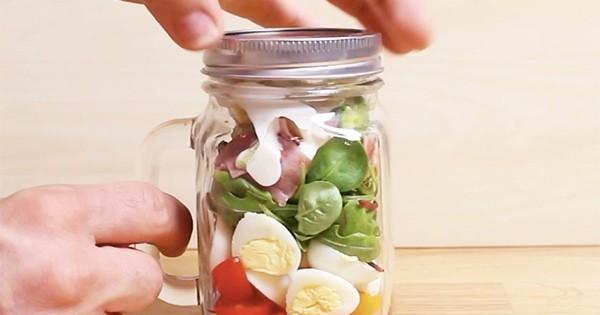 La délicieuse salade de Florette en pot, une recette 100% gourmande, à emporter partout !