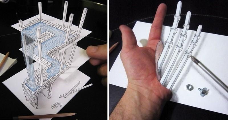 Les dessins 3D de cet artiste italien vont jouer avec votre perception et ça va vous rendre fous !