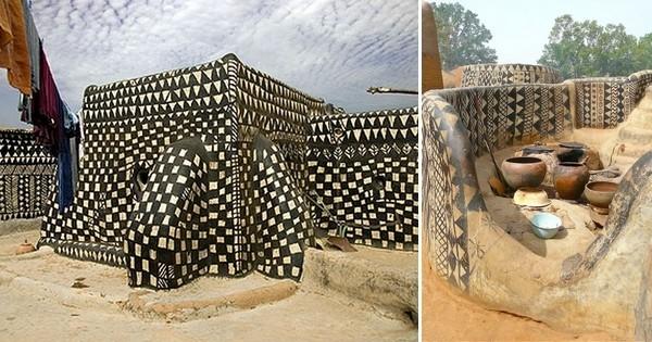 À Tiébélé, en Afrique, les maisons sont de véritables oeuvres d'art !