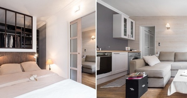 10 appartements parisiens de moins de 30m2 font preuve d 39 ing niosit. Black Bedroom Furniture Sets. Home Design Ideas
