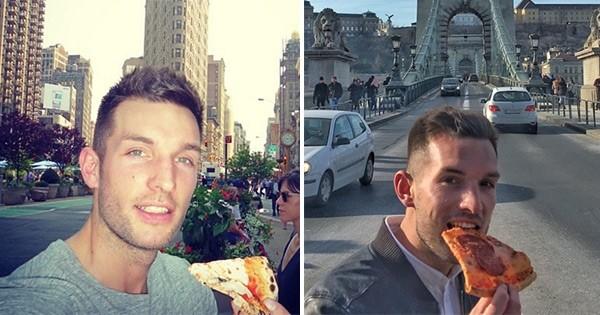 Il a tout compris : cet homme a décidé de faire le tour du monde... tout en mangeant des pizzas tous les jours