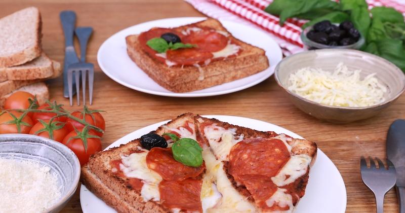 Craquez pour notre croque pizza, la technique du sandwich et les saveurs de la pizza!