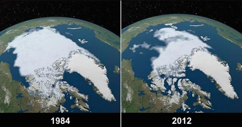 Ces 10 photos avant/après de la NASA témoignent de l'impact inquiétant du réchauffement climatique