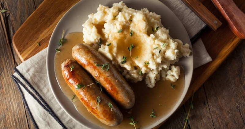 Bangers and mash Recette
