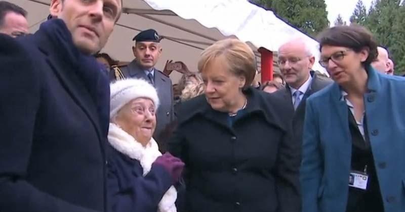 Une centenaire prend Angela Merkel pour Brigitte Macron lors de la commémoration du 11 novembre