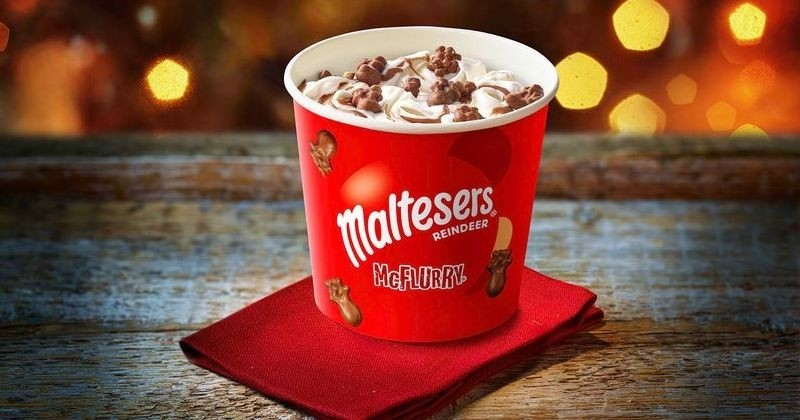 McDonald's lance un McFlurry Maltesers pour Noël avec tout un menu pour les fêtes!