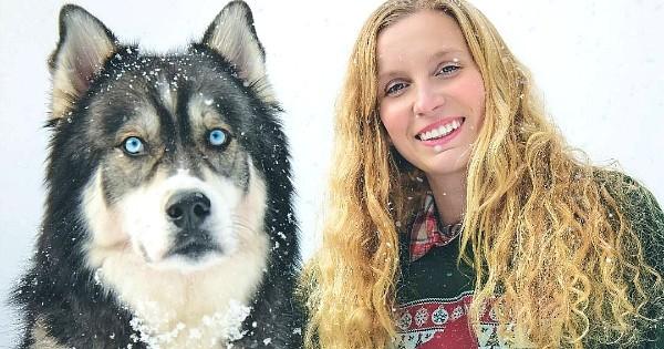 Pendant longtemps, cette femme a été battue par son compagnon, jusqu'à ce que l'adoption d'un jeune husky change sa vie...