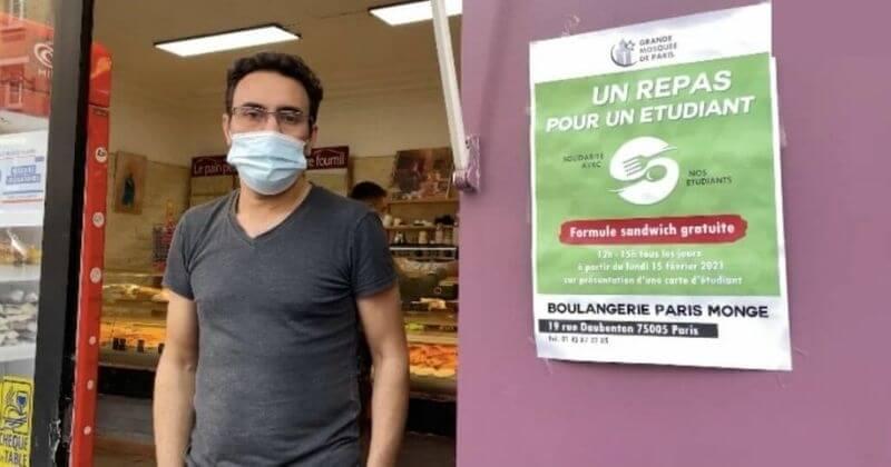 Paris : une boulangerie distribue des sandwichs gratuits aux étudiants précaires, avec l'aide de la grande Mosquée