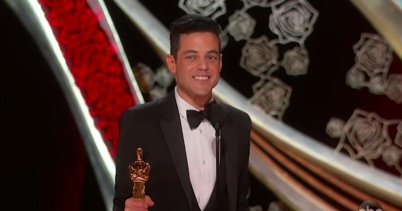 Rami Malek sacré meilleur acteur lors de la cérémonie des Oscars