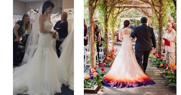Oseriez vous peindre votre robe de mariage cette fille l for Robes de noce ann taylor