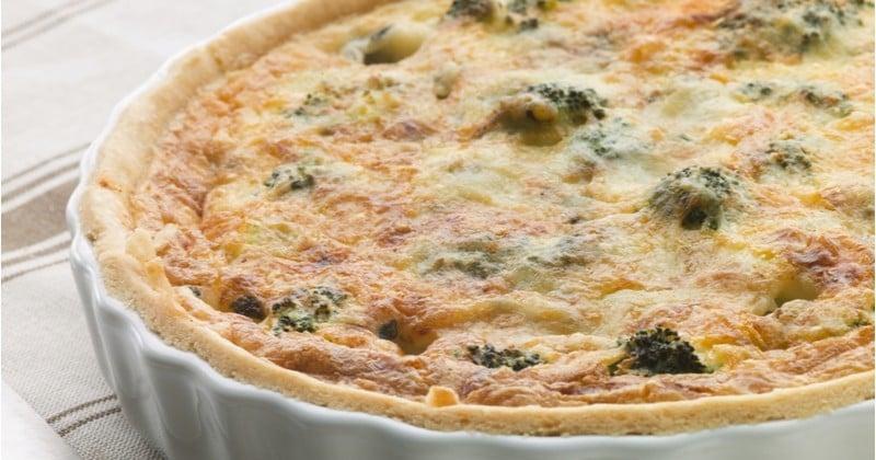 Quiche Roquefort brocolis