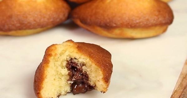 Les madeleines fourrées au chocolat... pour des goûters divins !