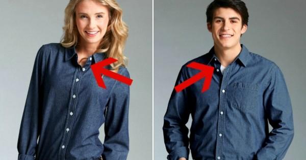Savez-vous pourquoi les boutons ne sont pas placés au même endroit sur les vêtements des hommes et des femmes ? La réponse remonte au 13ème siècle !