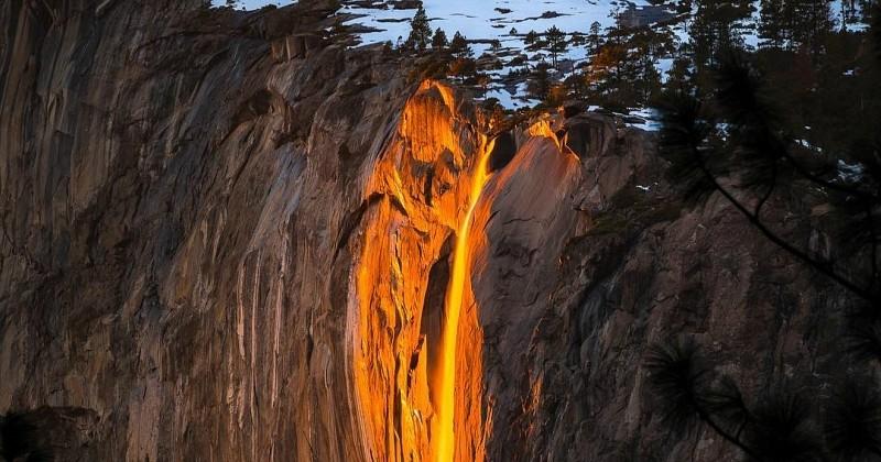 En Californie, cette «cascade de lave» émerveille les visiteurs du parc national de Yosemite
