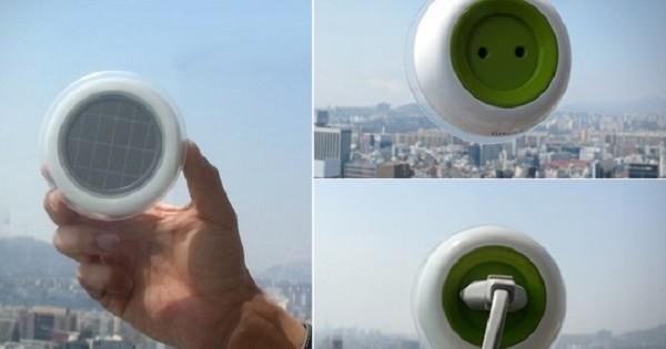 On pourra bientôt recharger ses appareils gratuitement grâce au soleil avec une prise électrique portable