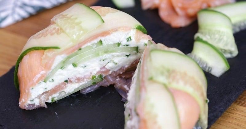 dôme de saumon au chèvre frais