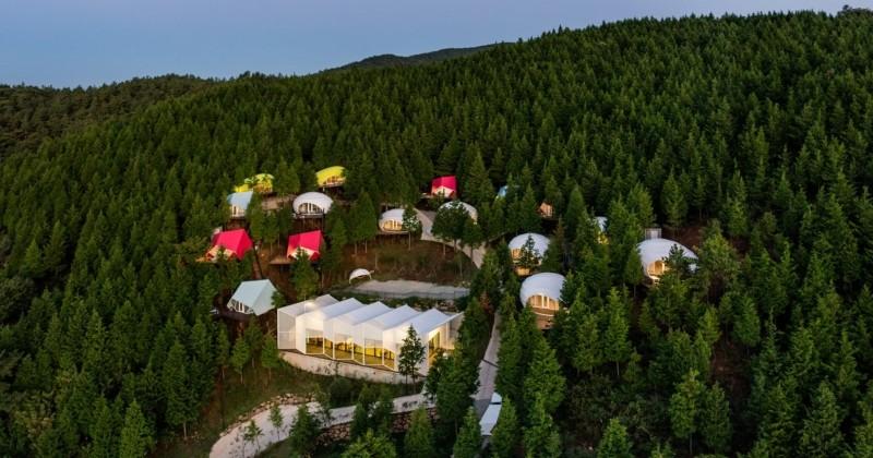 Corée du Sud: dormez dans un camping d'exception niché en plein coeur de la forêt