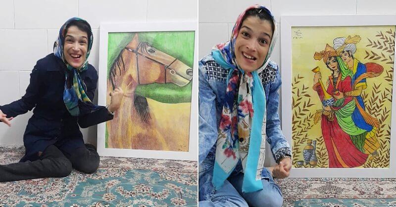 Cette artiste paralysée à 85% réalise des tableaux bluffants en tenant son pinceau avec ses pieds