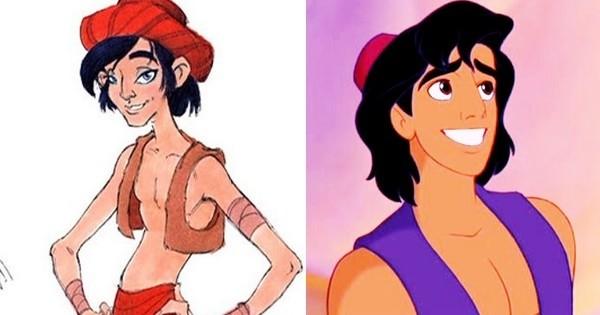 23 personnages de vos Disney et Pixar préférés qui auraient dû ressembler à ça ! Ouf, on l'a échappé belle…
