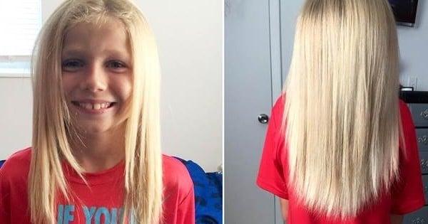 Ce petit garçon se laisse pousser les cheveux, avec une idée bien précise en tête... Merveilleux !