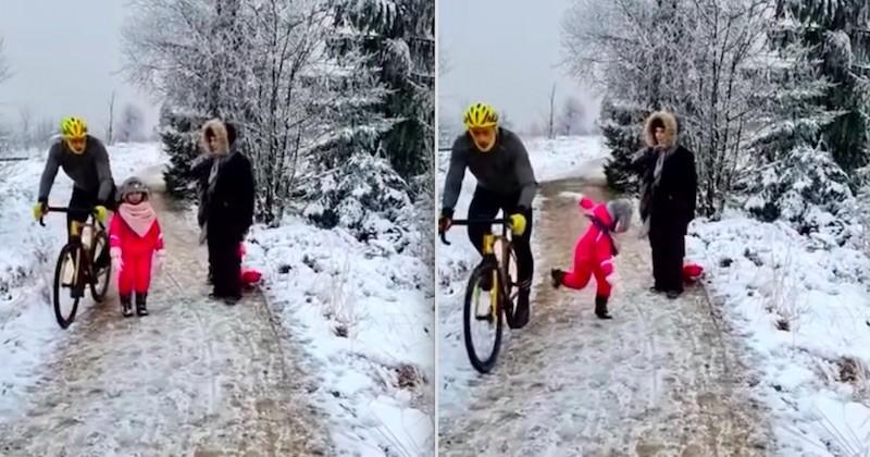 Ce cycliste donne un coup de genou volontaire à une fillette et suscite l'indignation