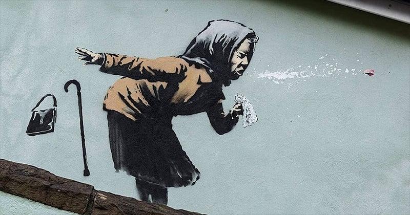 Banksy fait un clin d'œil au Covid-19 dans sa nouvelle œuvre à Bristol